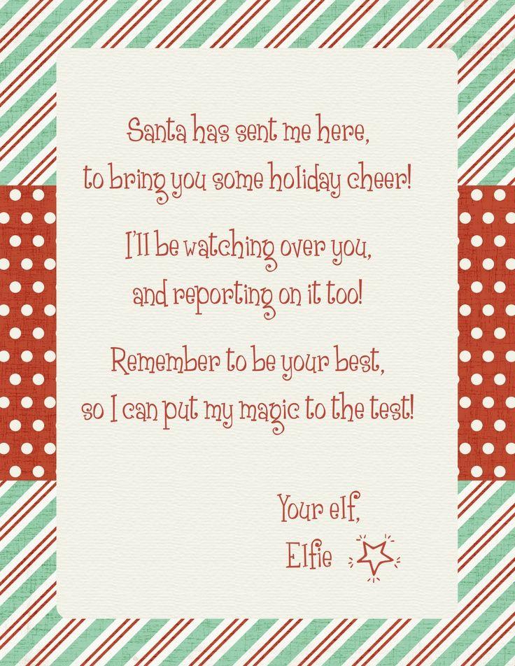 Elf on the Shelf Arrival Letter | Holiday | Pinterest