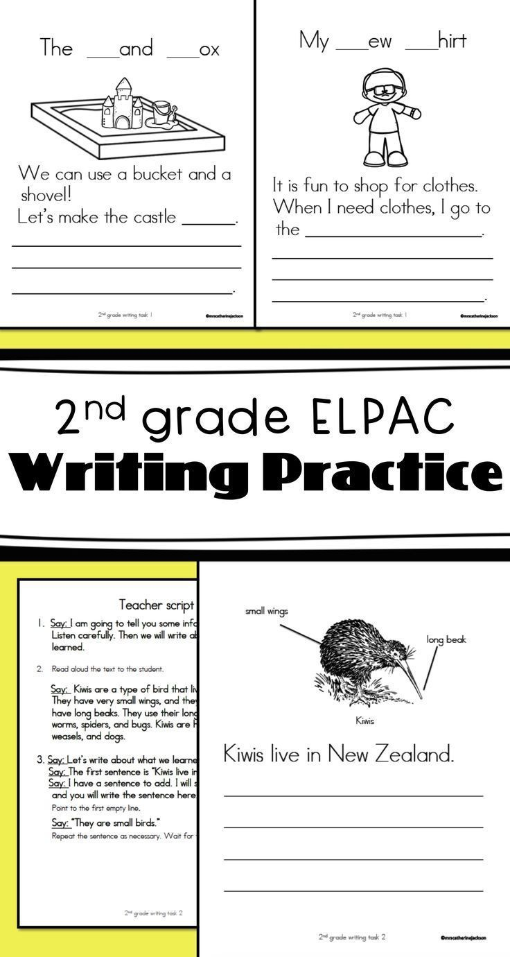 2nd grade writing skills checklist