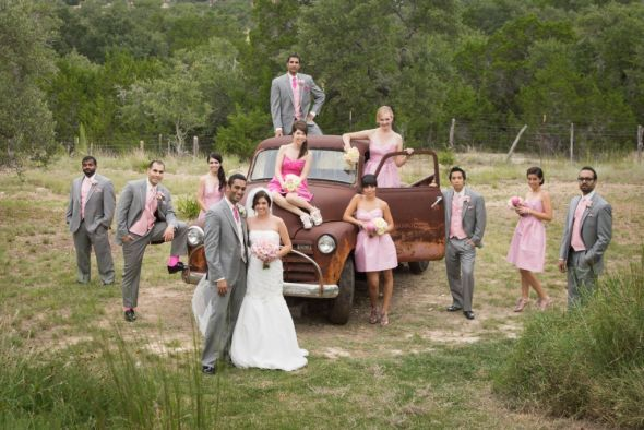 Pink And Gray Wedding Dresses | Pink bridesmaid dresses and gray suits « Weddingbee Gallery