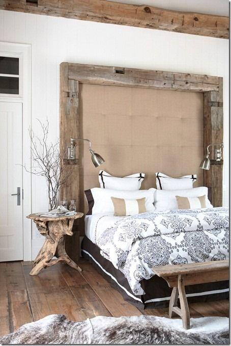 :: Havens South Designs :: loves this rustic headboard by Jill Kantelberg Designs