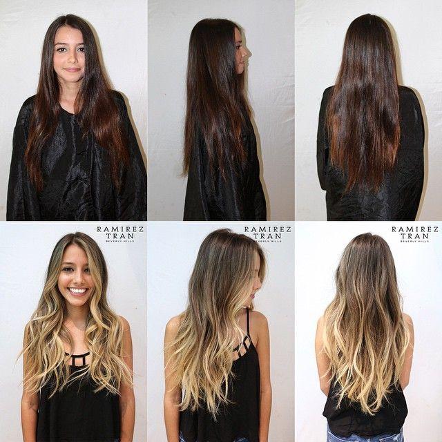 Image result for brown to blonde transformation balayage // blonde // long hair