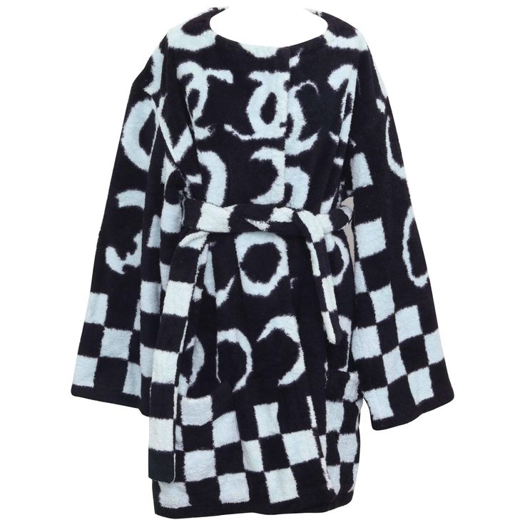 Very Rare Chanel Terry Bath Robe with Iconic CC 1990