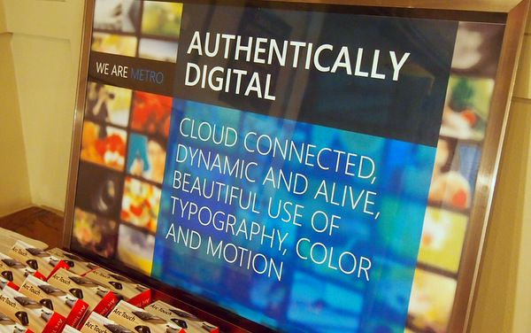 """Microsoft Metro - Authentically Digital    """"Cloud connected, dynamic and alive, beautiful use of typography color and motion.""""  quated from MASHABLE"""