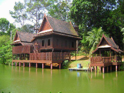 Thailand Houses | Thai house (mock up) at Asian village, Malaka, Malaysia