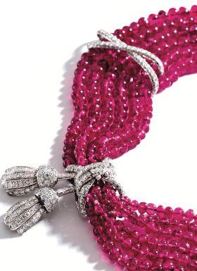 Platinum, Ruby and Diamond Necklace, Verdura - Sotheby's