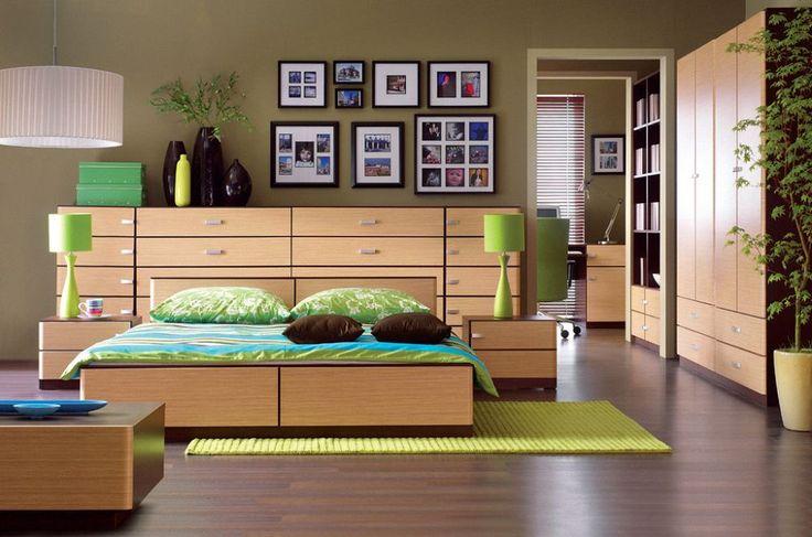 Zielone wnętrza - aranżacje wnętrz z kolorem zielonym (fot. www.BRW.com.pl)