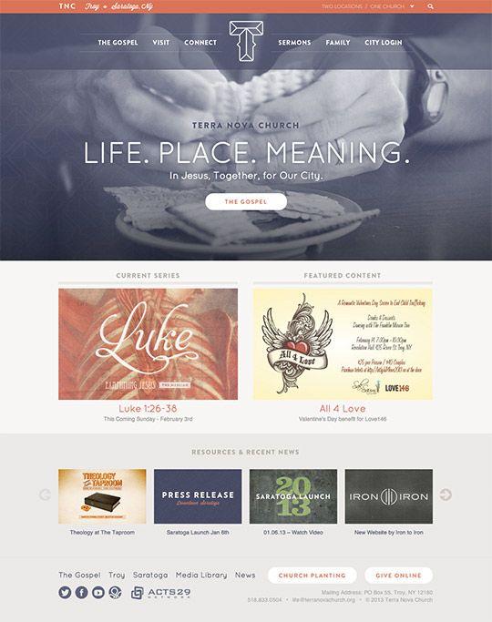 28 best Church Web Design Inspirations images on Pinterest
