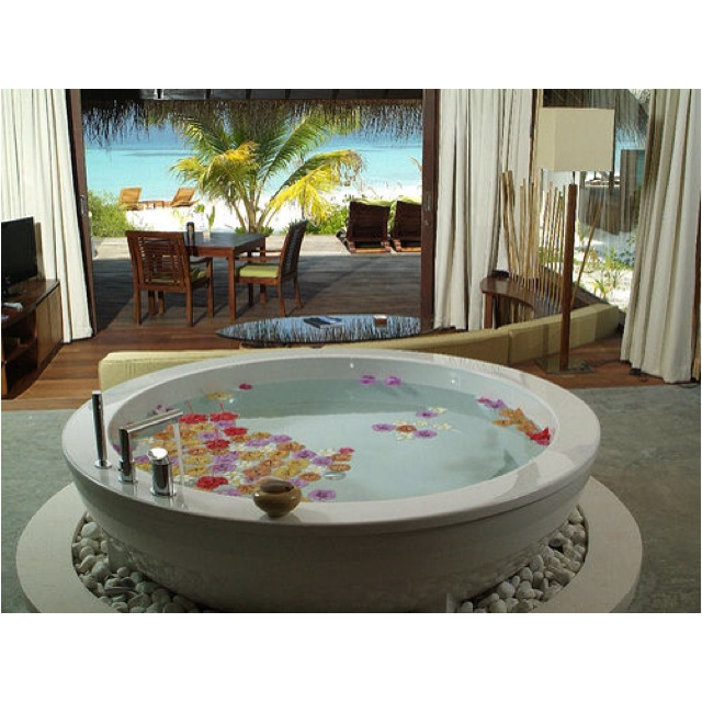 I don't think I would ever leave the house if this was in my bathroom :)