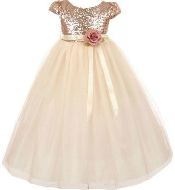 1000  ideas about Gold Flower Girl Dresses on Pinterest  Flower ...