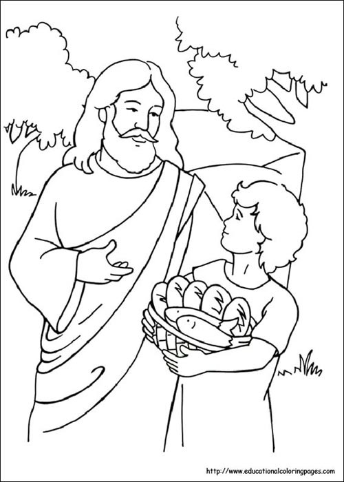 Christian Father Day Coloring Pages Another Picture And Gallery About For Kids Bible Jesus Feeds 5000 J