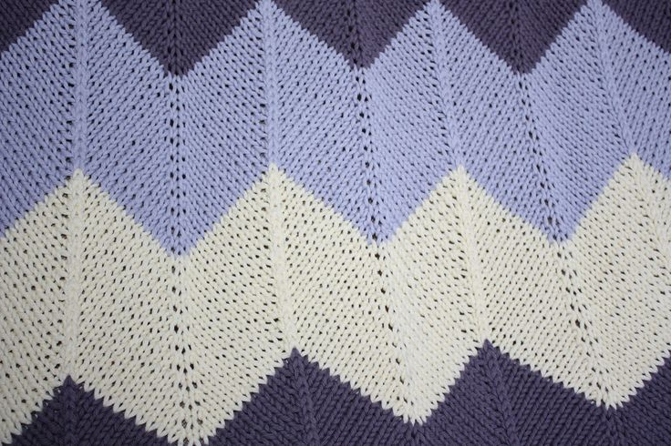 Chevron Baby Blanket. Pattern from Espace Tricot. Knitted in Drops Paris.