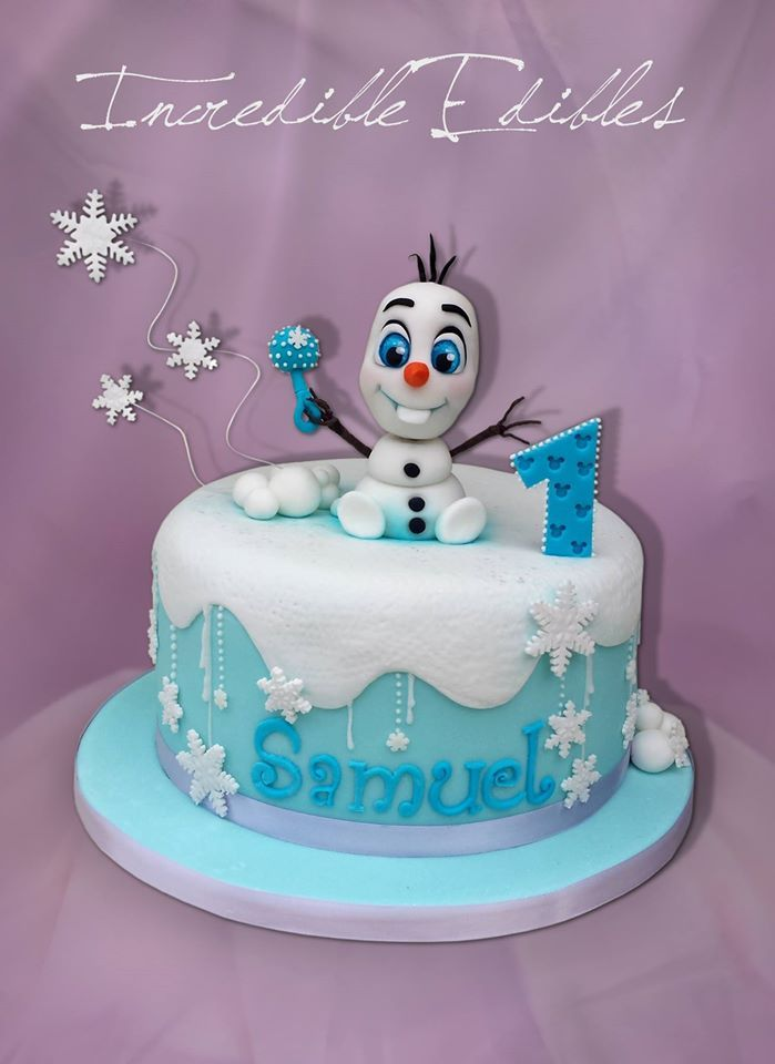 Olaf Birthday Cake Decorations Image Inspiration of Cake and