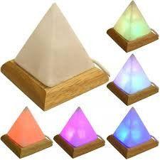 Colour changing USB Pyramid shaped-Himalayan salt lamp