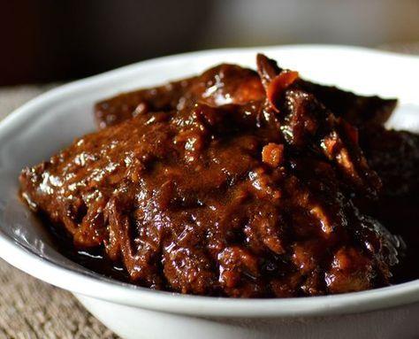 Langzaam gegaard varkensvlees op z'n Vietnamees