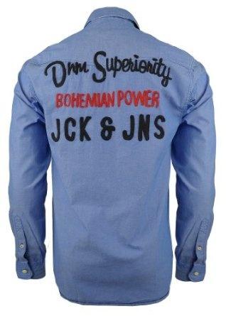 Jack and Jones Hemd Fame Shirt, blau Top-Angebote für « Herrenhemd