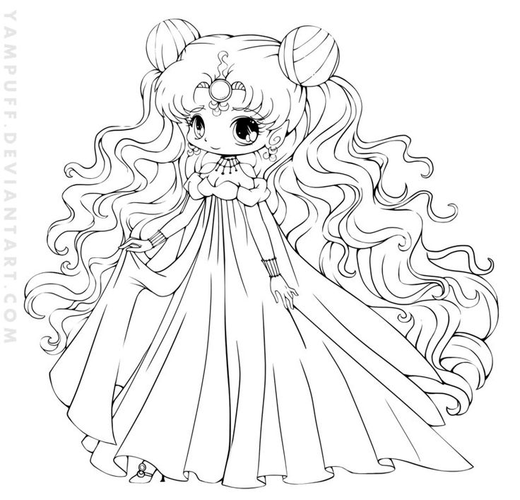 Nehelenia chibi lineart commish by yampuff