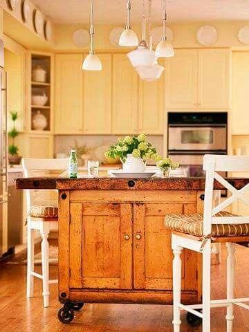 stained vintage cabinet as an design interior designs design - Bewegliche Kcheninsel Diy