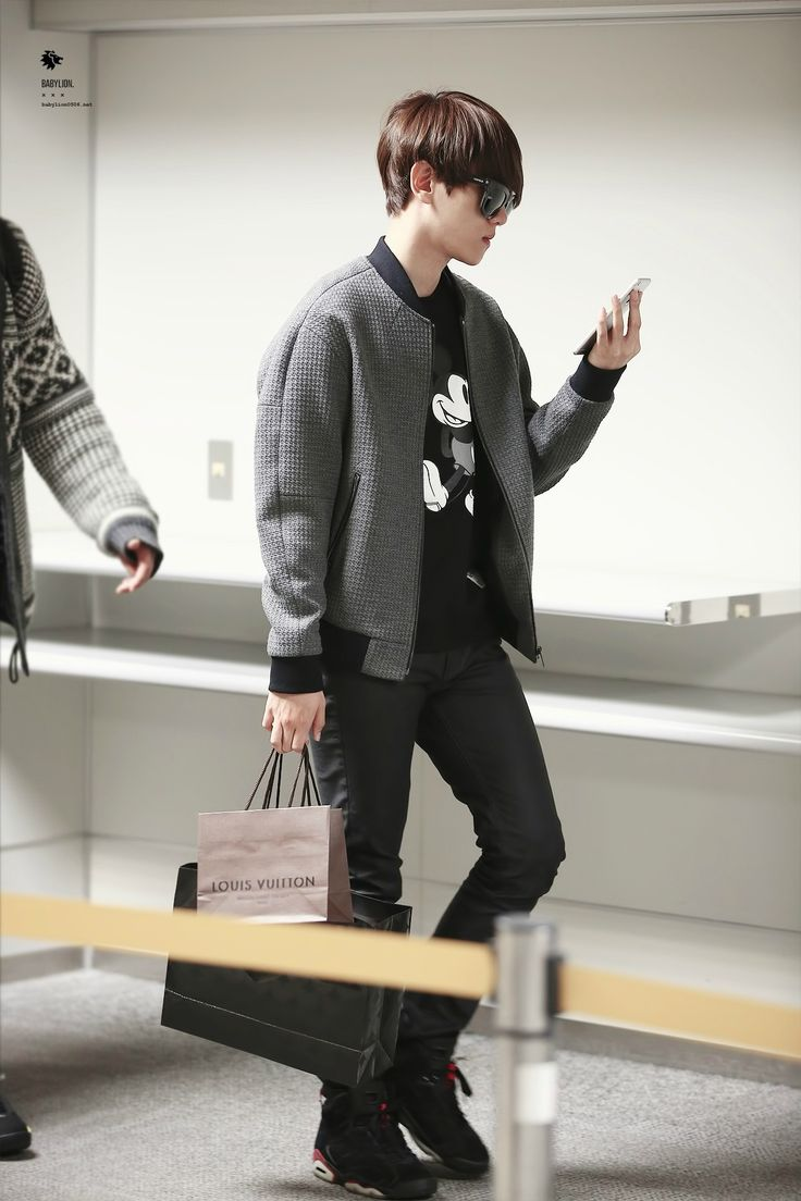141110- EXO Byun Baekhyun; Incheon Airport to Fukuoka Airport #exok #fashion: