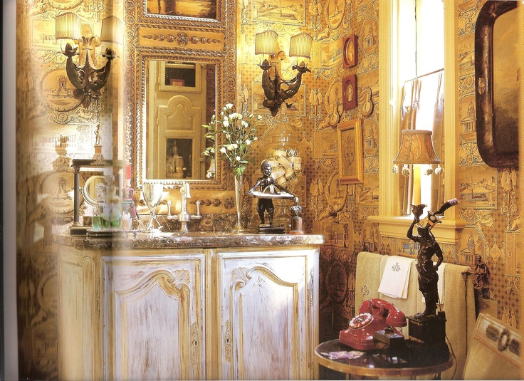 Charles Faudree French Country Decorating: Half Bath By Charles Faudree, Love His Emphasis On Detail