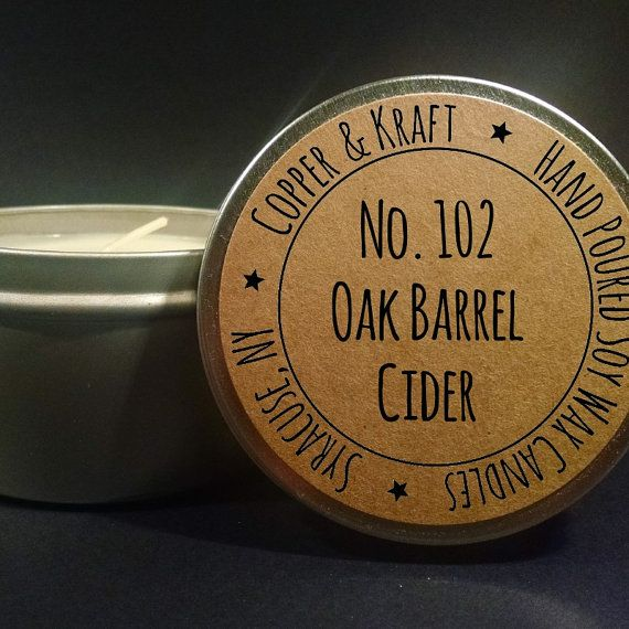 Handmade soy candles on Etsy