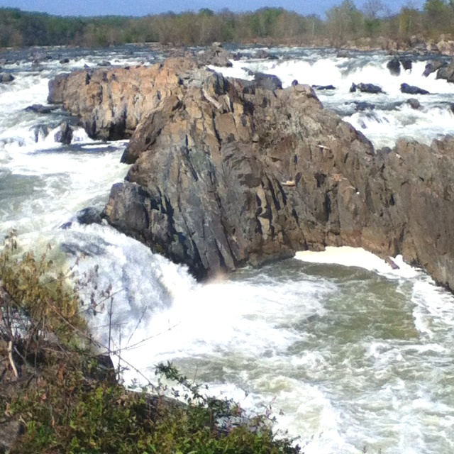 The Great Falls, Virginia. At Great Falls, the Potomac River builds up speed and force as it falls over a series of steep, jagged rocks and flows through the narrow Mather Gorge. The Patowmack Canal offers a glimpse into the early history of this country. Great Falls Park has many opportunities to explore history and nature, all in a beautiful 800-acre park only 15 miles from the Nation's Capital.