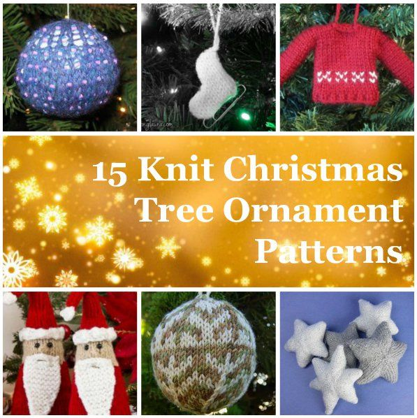27+ Knit Christmas Tree Ornament Patterns Trees, Christmas trees and Ornaments