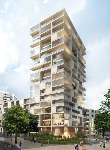 So sehen die weiteren Hochhäuser aus, die geplant sind.Diesen Turm hat das Düsseldorfer Büro Eller + Eller geplant.