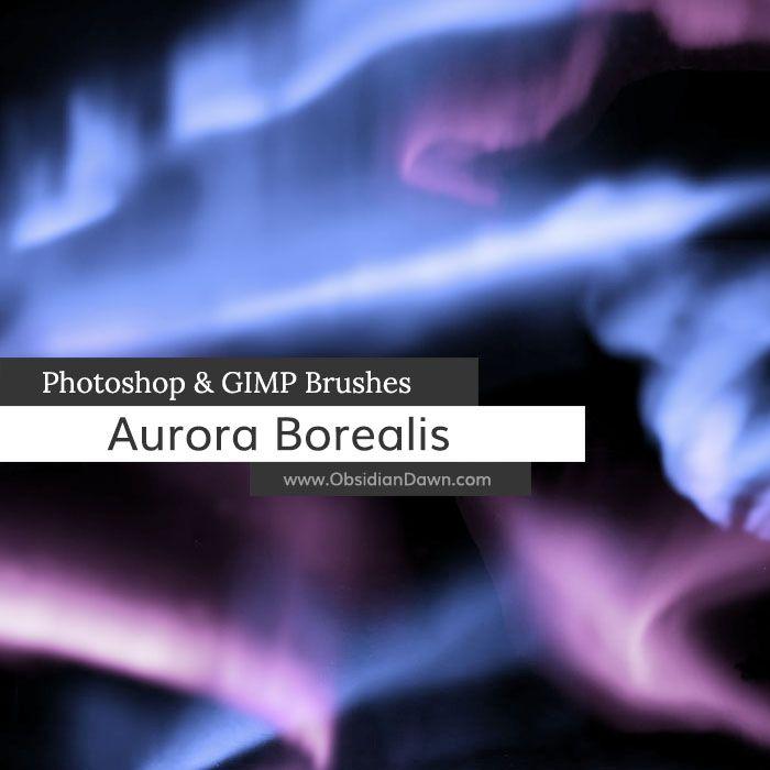 Aurora Borealis Photoshop and GIMP Brushes by redheadstock