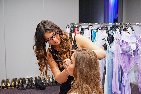 Me working at Besired Lingerie Show Miki-Ishiwata.com