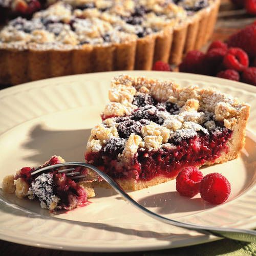 Raspberry-Almond Crumb Tart | Oh for the love of pie! | Pinterest