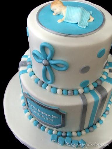 Sweet Christening cake.
