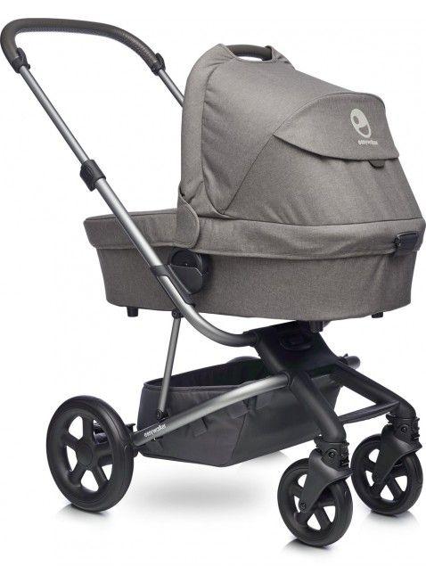 Easywalker Harvey Kinderwagen mit Babywanne Steel Grey - Kleine Fabriek. Mehr Infos auf https://www.kleinefabriek.com/.