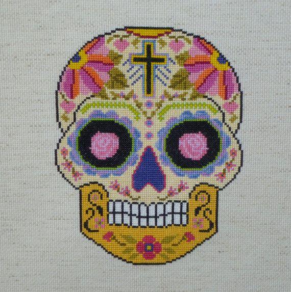 ALL SOULS Sugar Skull Cross Stitch Pattern