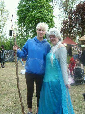 Jack Frost and Queen Elsa = Jelsa Elf Fantasy Fair 2014 Haarzuilens