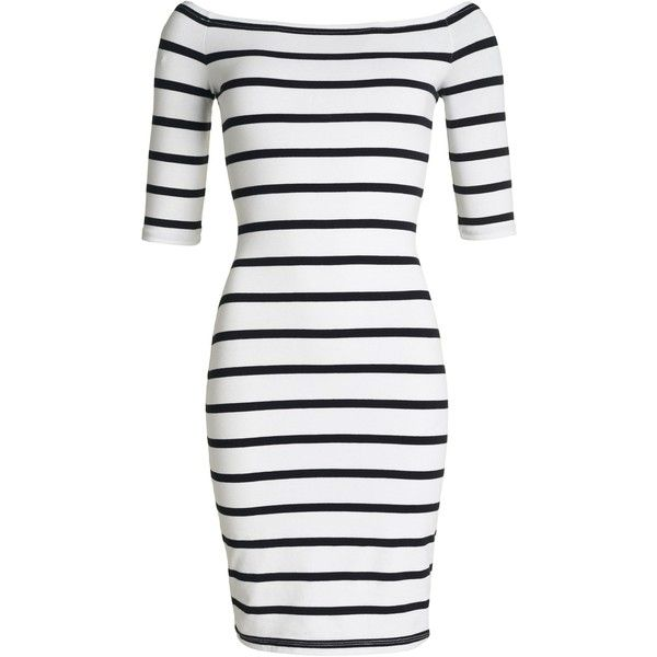 Superdry Bardot Bodycon Dress ($47) ❤ liked on Polyvore featuring dresses, winter white, women, white ivory dresses, body con dress, white cotton dress, white dresses and white day dress