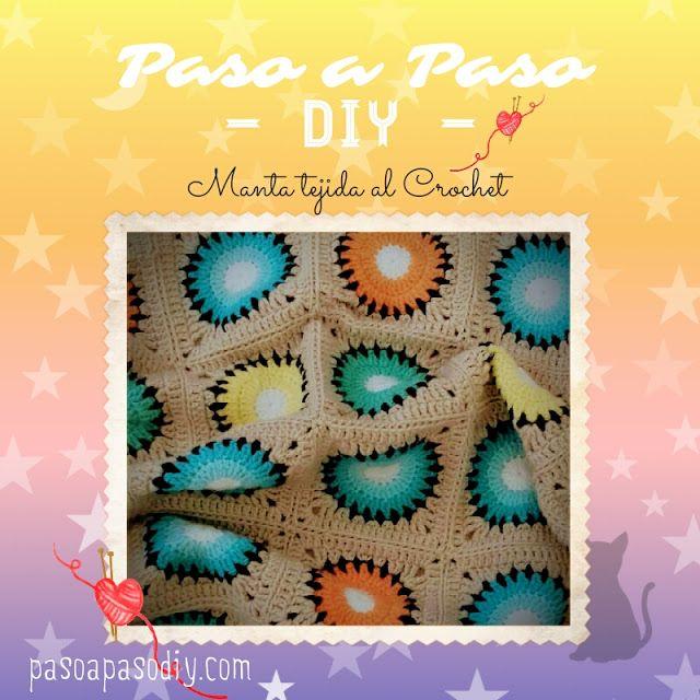 Manta tejida al Crochet - DIY | Paso a Paso