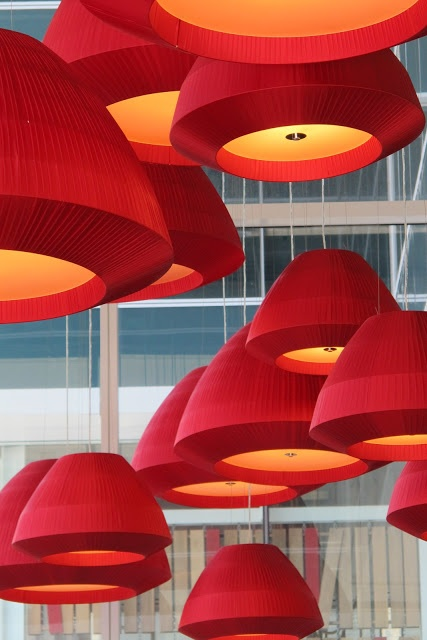Fabulous Pendant Cluster in Asian Restaurant by KDW Design