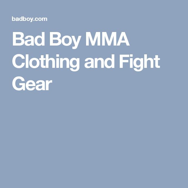 Bad Boy MMA Clothing and Fight Gear
