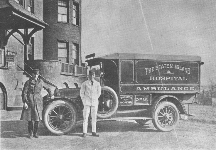 Staten Island, Borough of Richmond, New York, NY.  Staten Island Hospital Unit #3 24 hour a day service in the early 1900's.