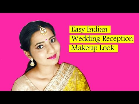 Indian Wedding Reception Makeup Look - for beginners - YouTube