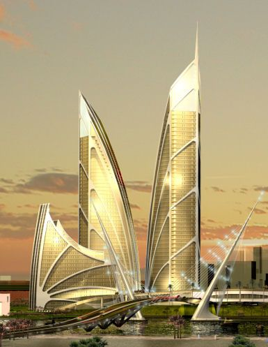 Nakheel competition winner forPalm Jebel Ali (off the coast do Dubai) byRoyal Haskoning & D103 International