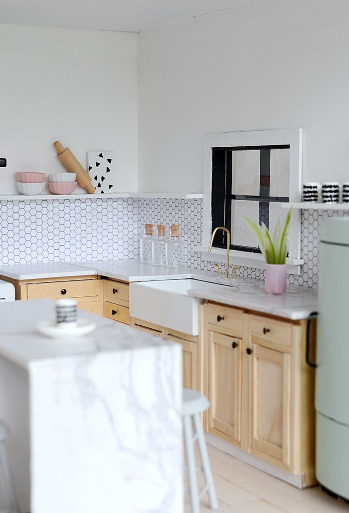 little modern farmhouse kitchen dollhouses