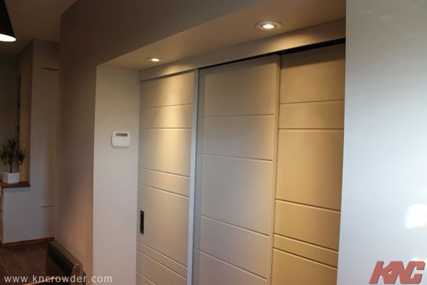 triple by pass system by k n crowder sliding door manufacturer used here for a closet opening. Black Bedroom Furniture Sets. Home Design Ideas