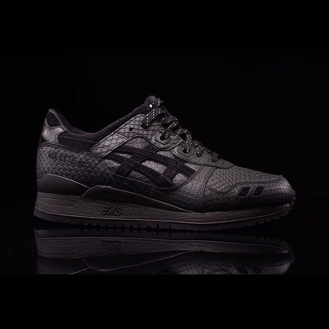 "ASICS GEL-Lyte III ""Black Mamba"": When in the hot August sun, harness the  essence of the cold blooded."