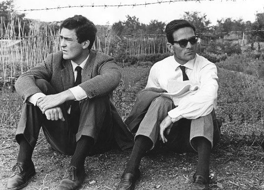 Bernardo Bertolucci and Pier Paolo Pasolini