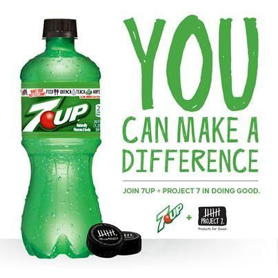 7 up partnered with Project 7 to make a difference with your bottle