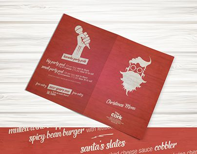 "Check out new work on my @Behance portfolio: ""The Cork Christmas Menu 2015"" http://on.be.net/1ZuScoA"