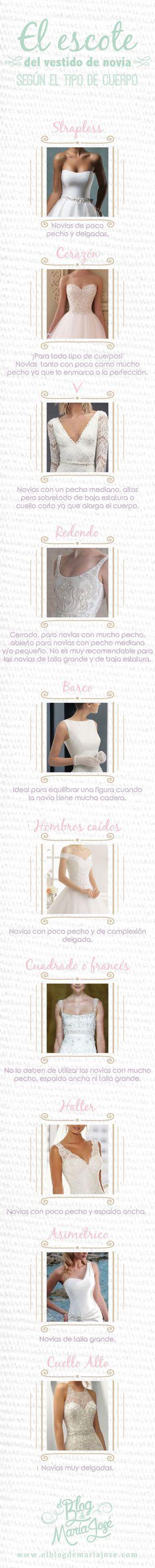 El escote del vestido de novia según el tipo de cuerpo #bodas #ElBlogdeMaríaJosé #EscoteVestidoNovia #VestidoNovia