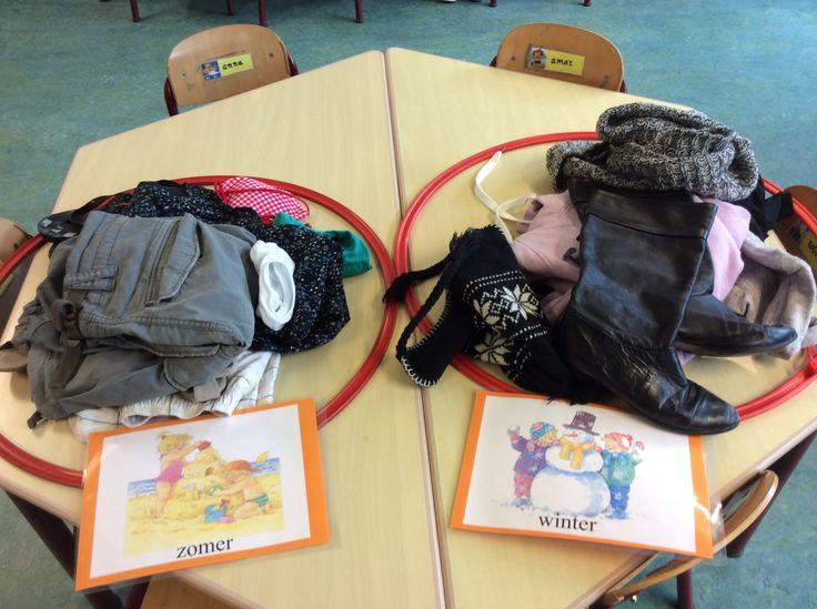 British Columbia Kindergarten Social Studies B1, D1 Sorteren op seizoen