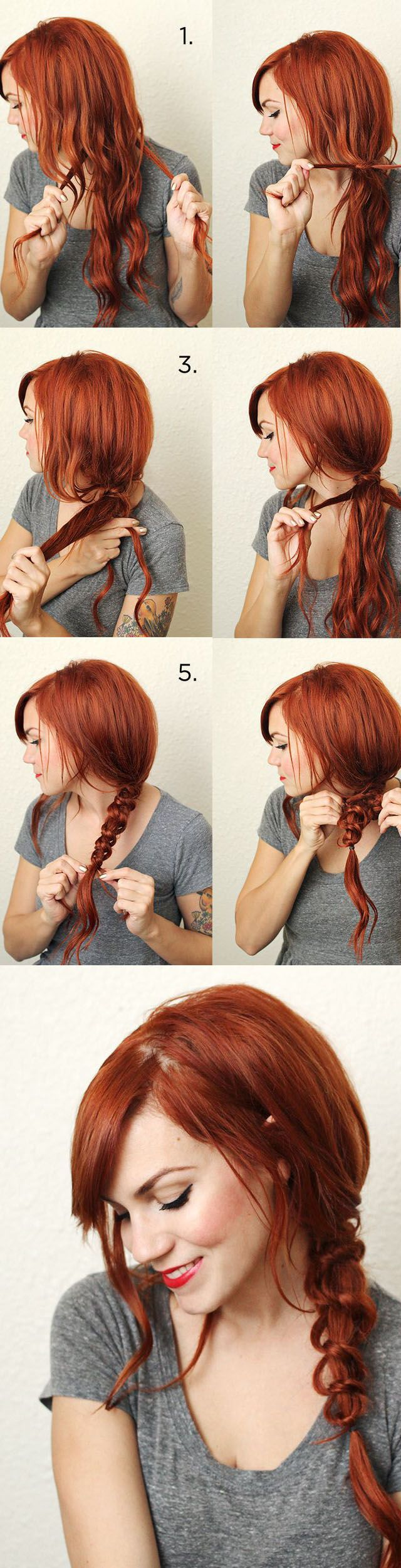 Strange 1000 Ideas About Messy Braid Tutorials On Pinterest Messy Hairstyle Inspiration Daily Dogsangcom